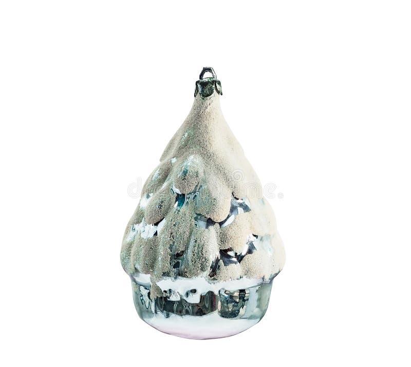 Weihnachtsbaum, Schneehaus lizenzfreie stockfotos