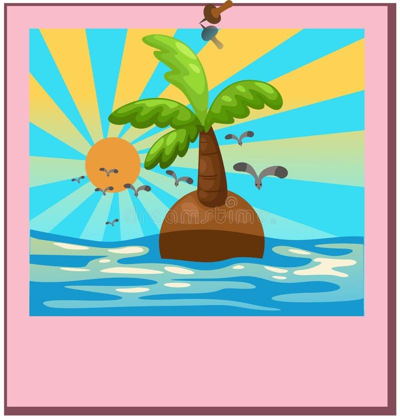 Hängendes Bild des Strandes lizenzfreie abbildung