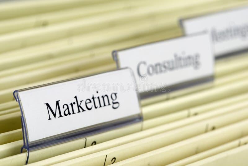 Hängendes Faltblatt Marketing lizenzfreie stockfotografie