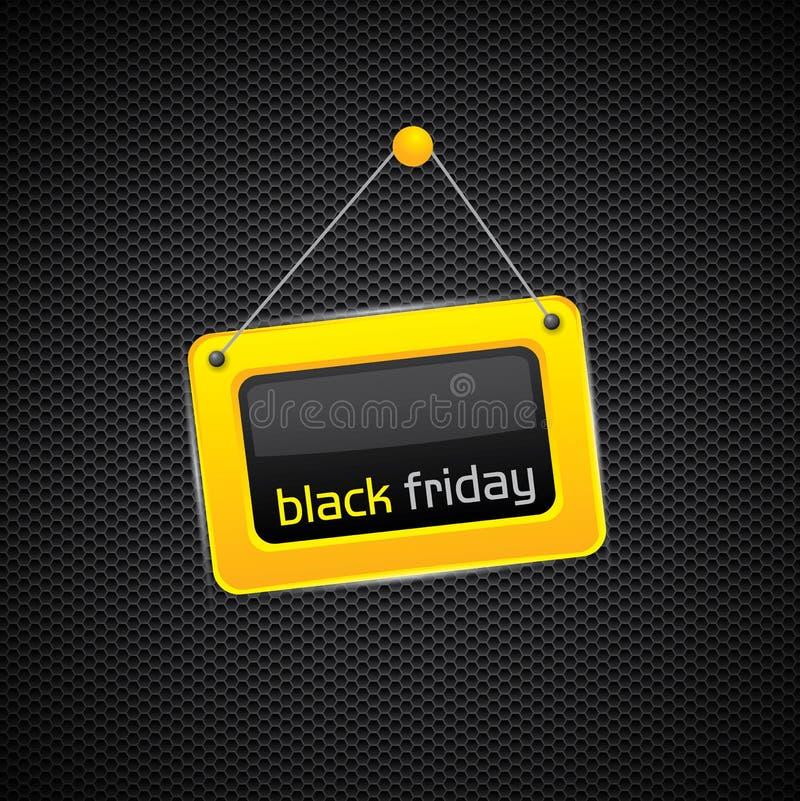 Hängendes schwarzes Freitag-Zeichen vektor abbildung