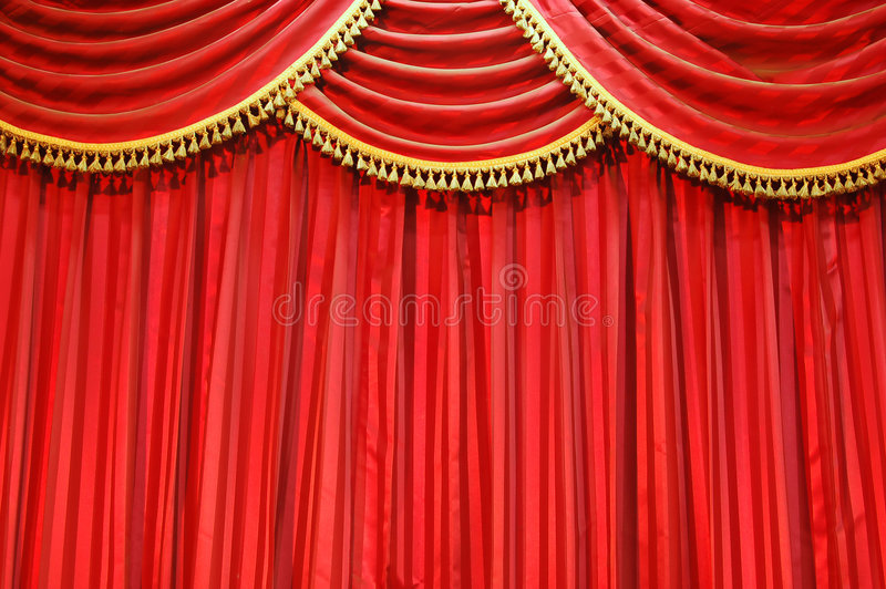 hänger upp gardiner theatren