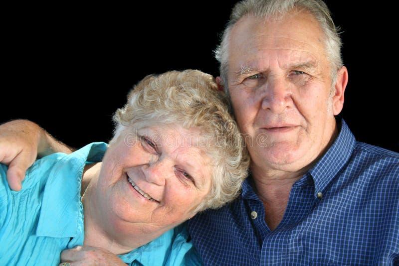 hängiven pensionär för par royaltyfria foton