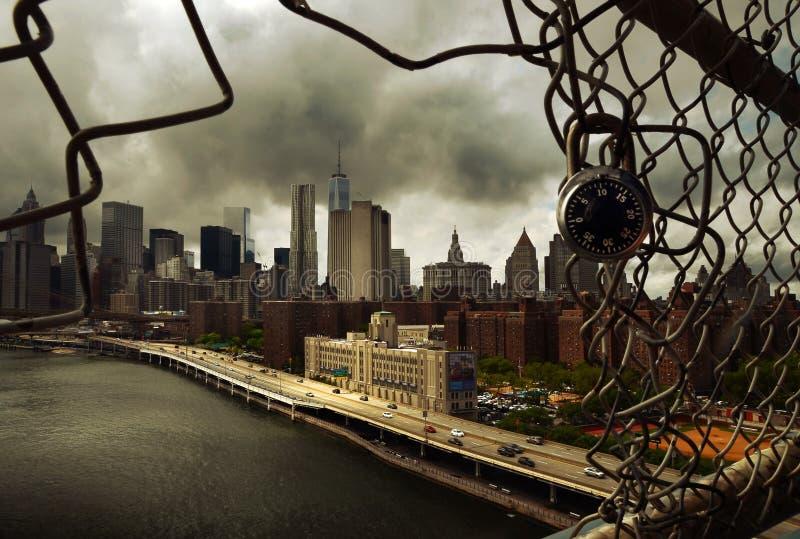 Hänglås på Manhattan royaltyfri bild