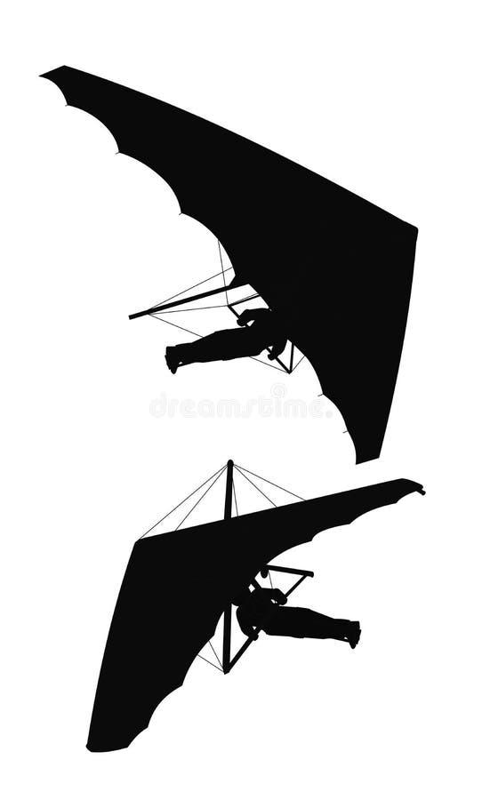 Hängningglidflygplan royaltyfri illustrationer