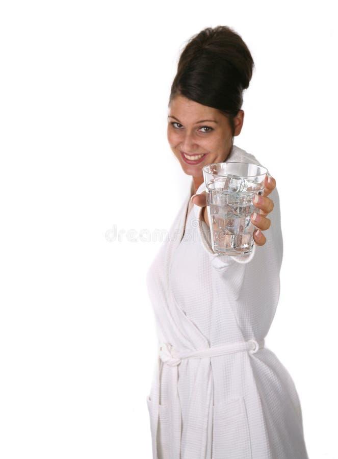Här är ett exponeringsglas av Water royaltyfri bild