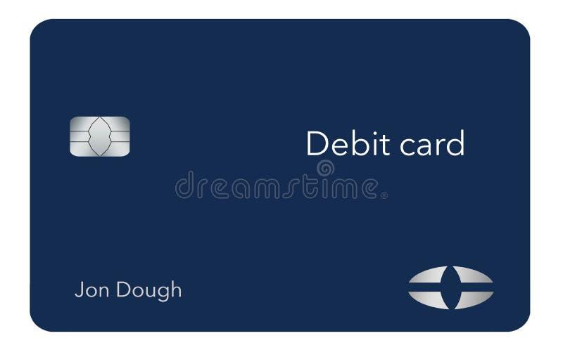 Här är ett modernt och stilfullt bankdebiteringkort Det är en illustration och är falskt och generiskt att undvika några problem  vektor illustrationer