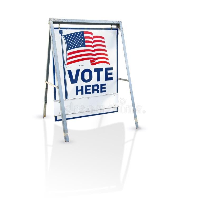 här röstar signagen royaltyfri foto