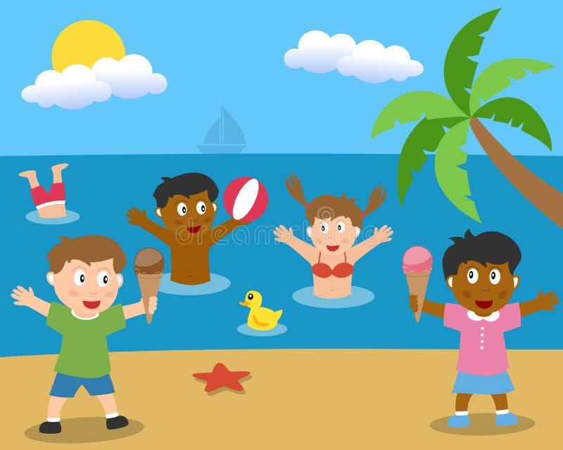 här sommar stock illustrationer
