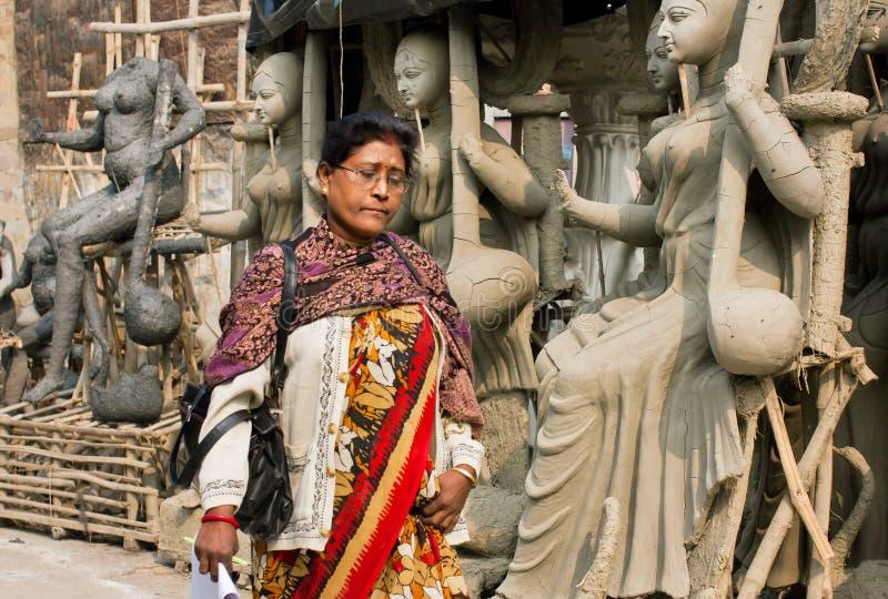 Härlig äldre kvinna av Indien fotografering för bildbyråer