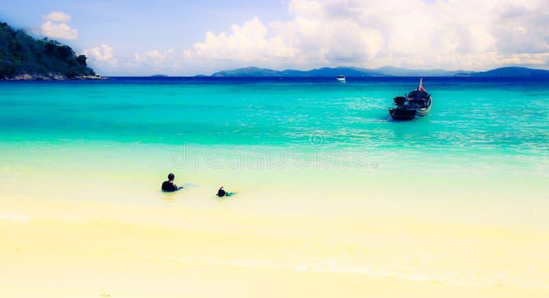 Härlig ö för havssikt royaltyfria foton