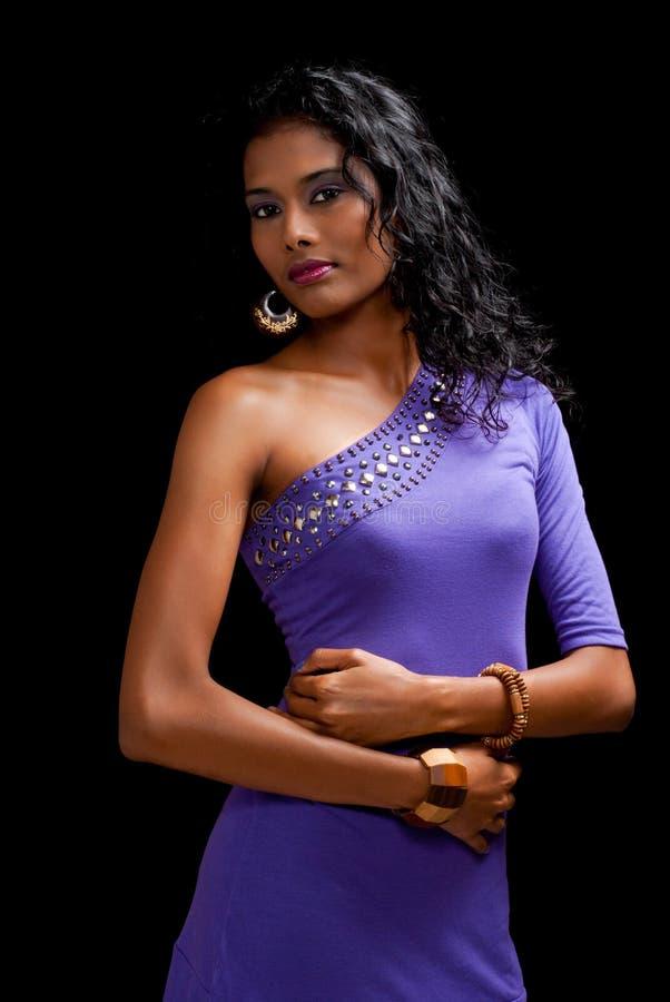 härlig östlig indisk kvinna royaltyfria bilder