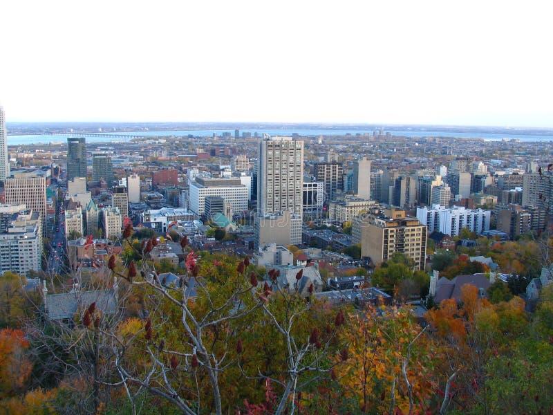 Härlig överblick av Quebec arkivbild