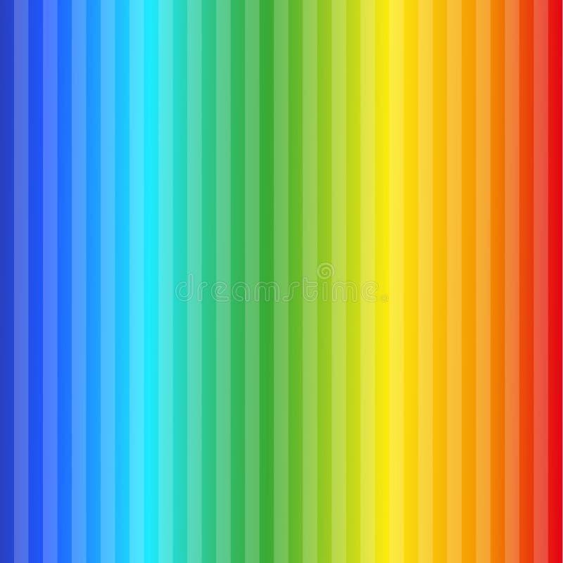 H?rlig abstrakt bakgrund, best?r av vertikala band av f?rger av regnb?gen royaltyfri illustrationer