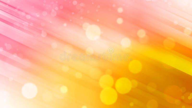 Härlig abstrakt bakgrund, rosa färger och gulingsignalen och bokeh tänder stock illustrationer