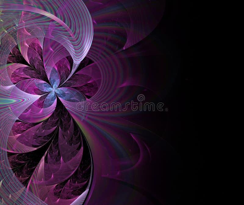Härlig abstrakt fractalblomma royaltyfri illustrationer