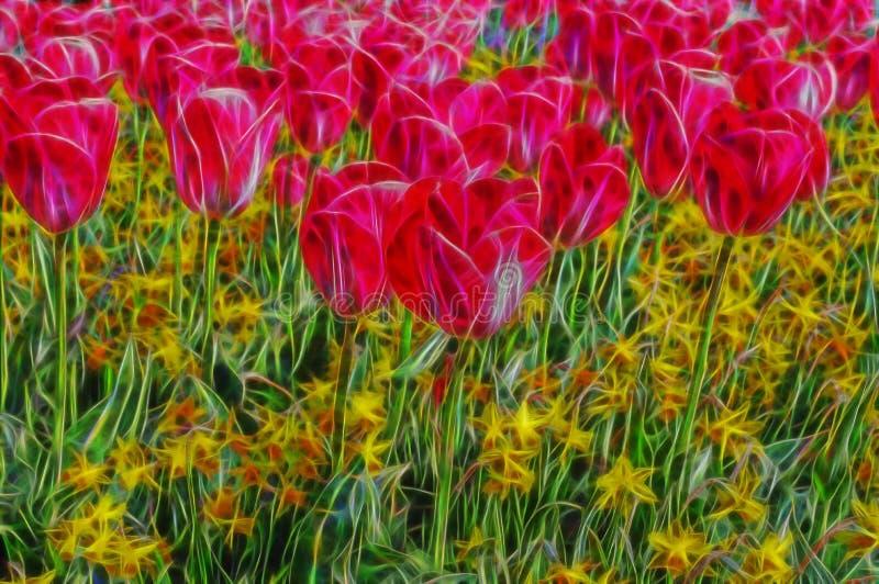 Härlig abstrakt fractalfärgblomma arkivfoton