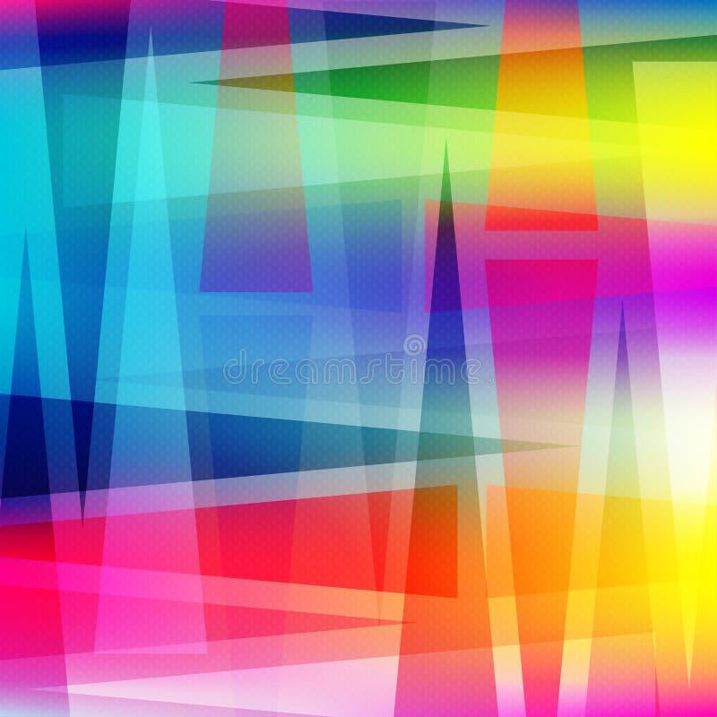 Härlig abstrakt geometrisk färgrik bakgrundsvektorillustration vektor illustrationer