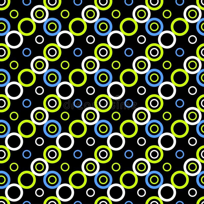 Härlig abstrakt geometrisk färgrik sömlös modell stock illustrationer
