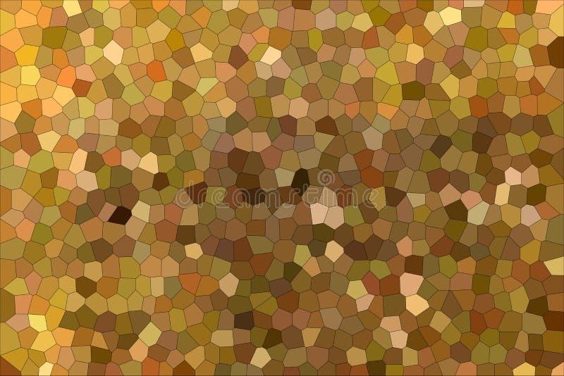 Härlig abstrakt illustration av den lilla sexhörningen för brun och röd impressionism Användbar bakgrund för din design royaltyfri illustrationer