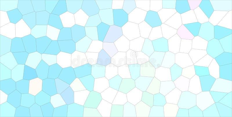 Härlig abstrakt illustration av den mellersta formatsexhörningen för blått, för gräsplan och för vit Bra bakgrund för ditt projek stock illustrationer