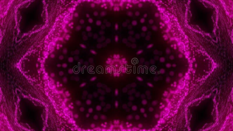 Härlig abstrakt kalejdoskop - fractalblomman, 3d framför bakgrunden, datoren som frambringar bakgrund vektor illustrationer