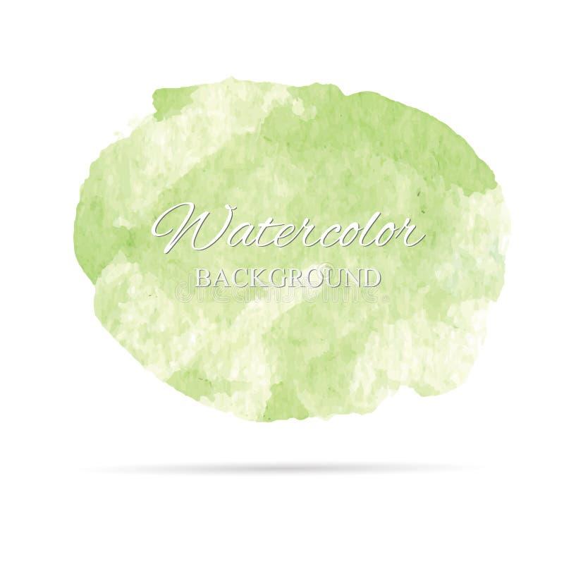 Härlig abstrakt målarfärg för vattenfärgkonsthand på vit bakgrund, borstetexturer för logo Det finns ett ställe för text Göra per vektor illustrationer