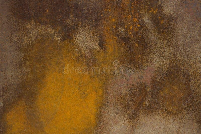 Härlig abstrakt målning som skapas av naturlig rost på metall arkivfoto
