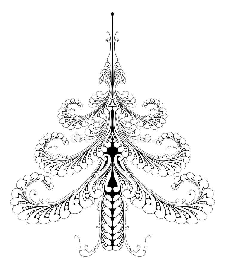 Härlig abstrakt modelljulgran vektor illustrationer