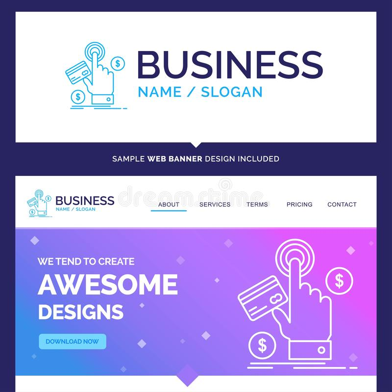 Härlig affärsidémärkesnamnppc, klick, lön, betalning stock illustrationer