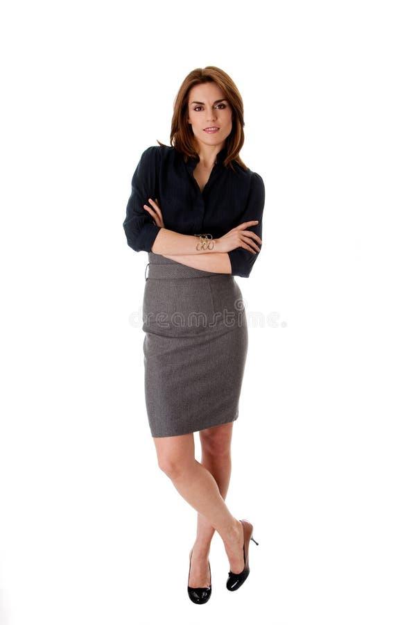härlig affärskvinna arkivbilder