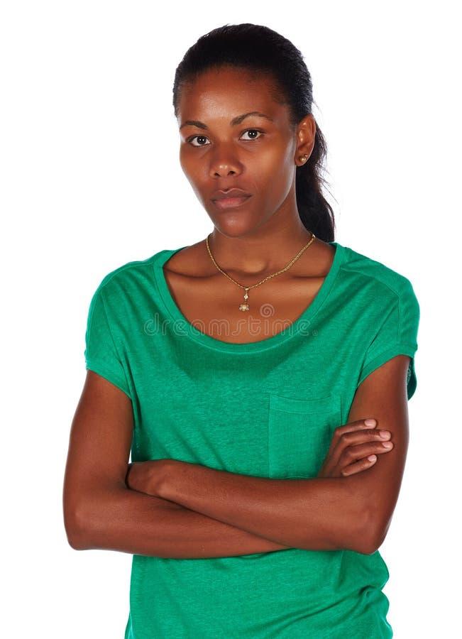 Härlig afrikansk kvinna fotografering för bildbyråer
