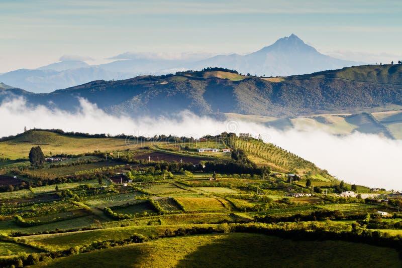 Härlig andean landskapsikt från Nono, Ecuador royaltyfri foto