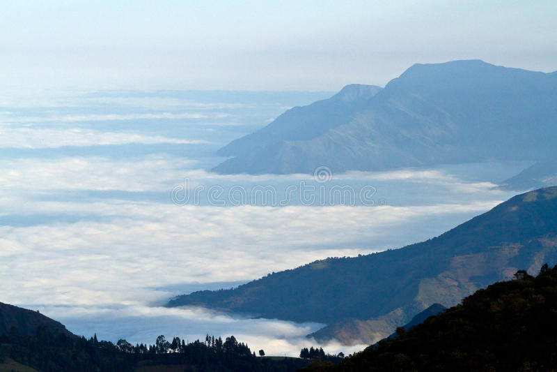 Härlig andean lanscape i landskapet av Canar royaltyfria foton