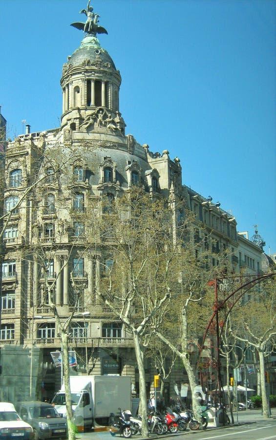 Härlig arkitektur av Barcelona Spanien arkivbild