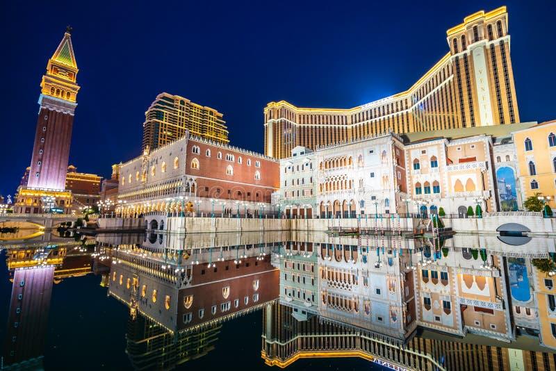 Härlig arkitekturbyggnad av den venetian och annan hotellresoen fotografering för bildbyråer