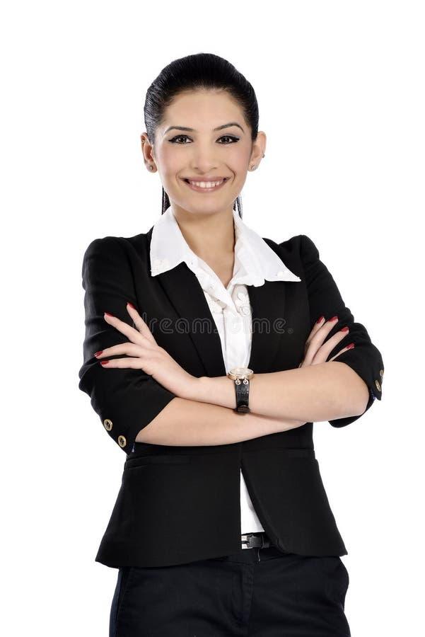 Härlig attraktiv affärskvinna fotografering för bildbyråer