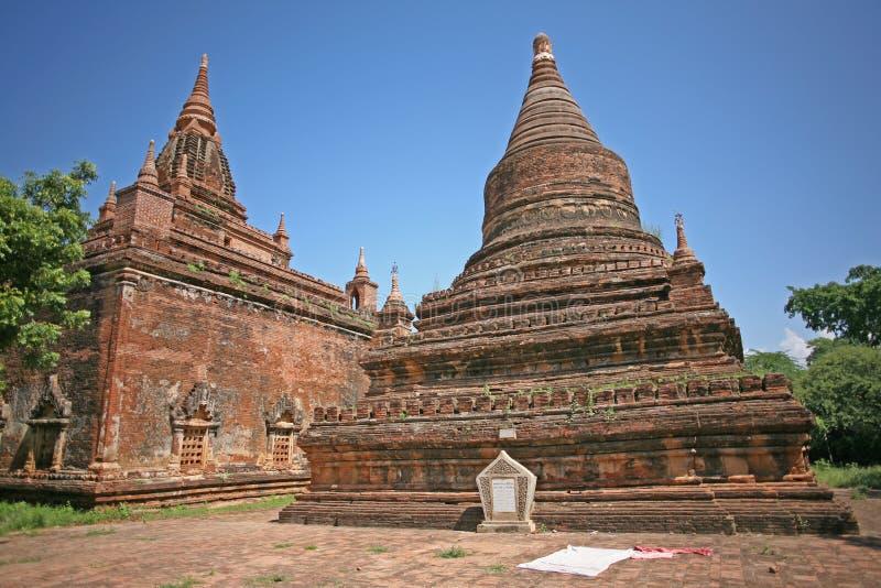 Härlig Bagan tegelstenpagod arkivfoto