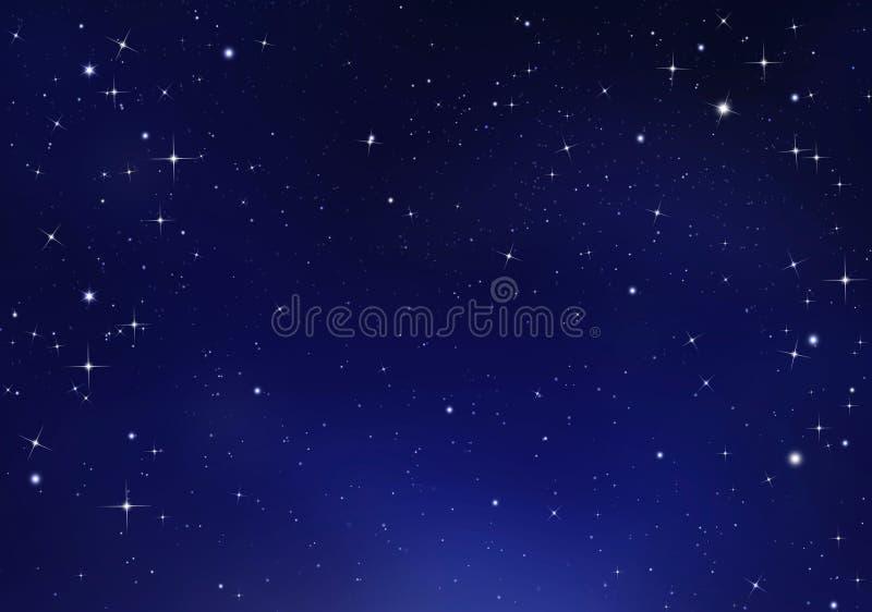 Härlig bakgrund av natthimlen vektor illustrationer