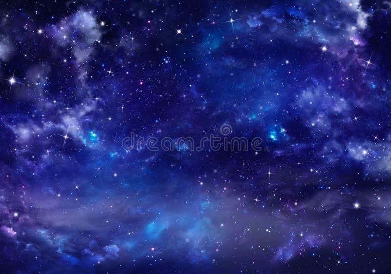 Härlig bakgrund, nightly himmel vektor illustrationer