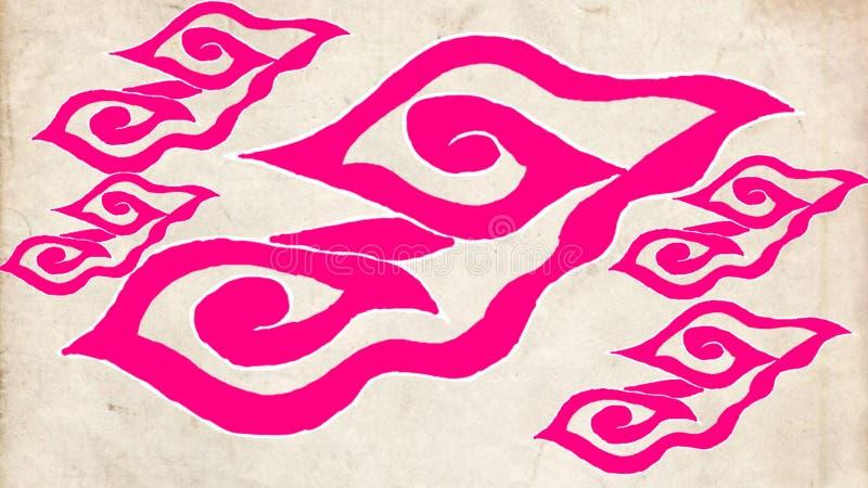 Härlig Batikmodell från indonesia stock illustrationer