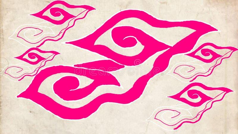 Härlig Batikmodell från indonesia royaltyfri illustrationer