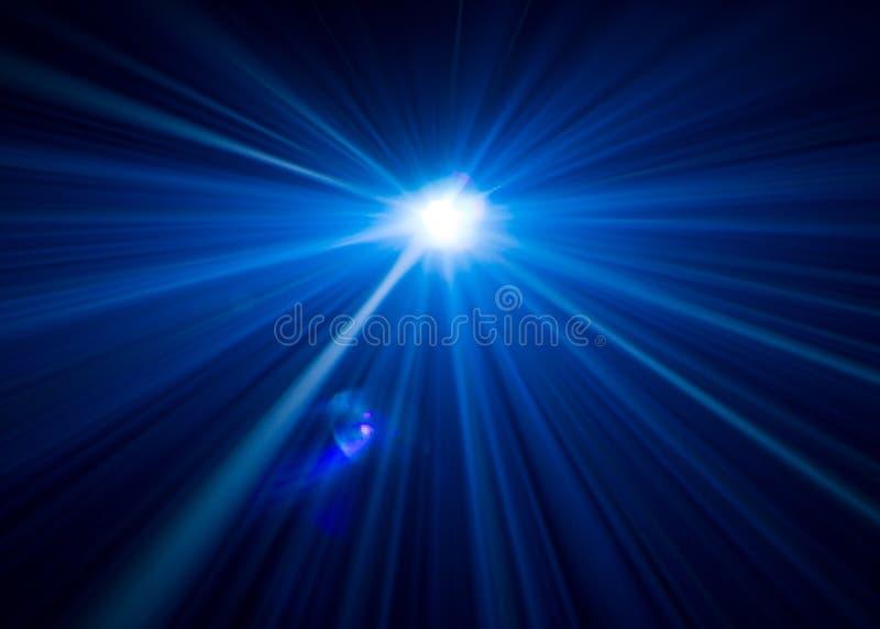 Härlig belysning för projektor bred linsutrustning för showpresentationen på natten Röka abstrakt bakgrund fotografering för bildbyråer