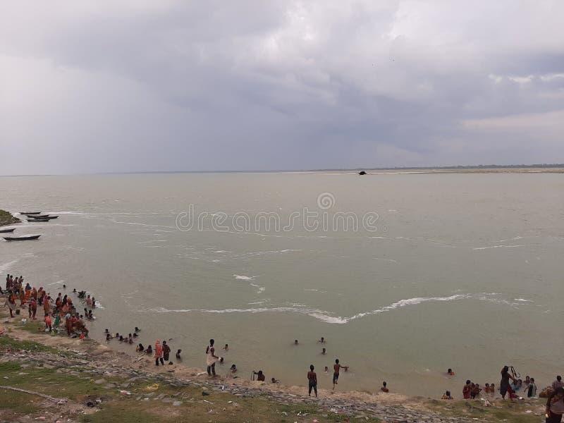 Härlig bild av flodgangesh royaltyfri foto