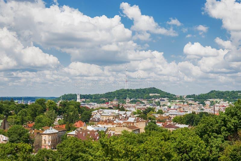 Härlig bild av Lviv royaltyfri bild