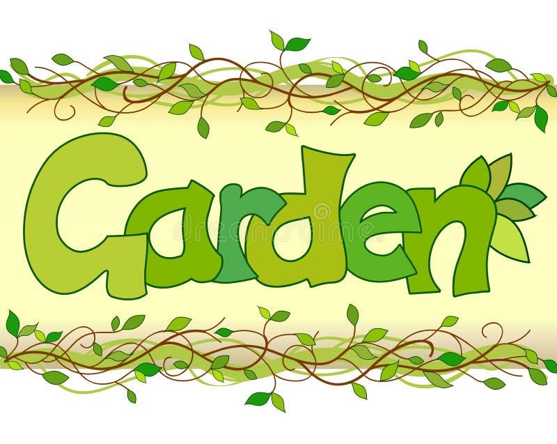 Härlig bild av ordträdgården vektor illustrationer