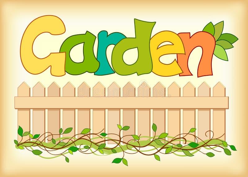 Härlig bild av ordträdgården stock illustrationer