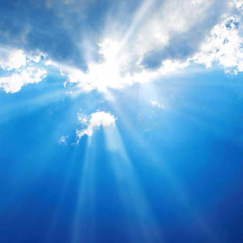 Härlig blå himmel royaltyfri foto