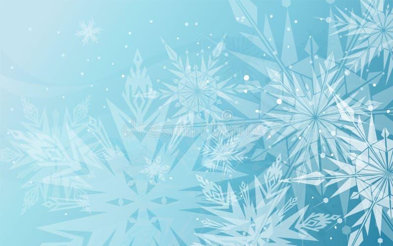 härlig blå vinter för bakgrund vektor illustrationer