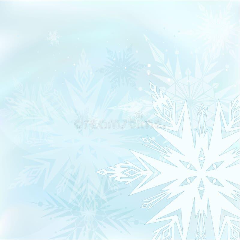 härlig blå vinter för bakgrund royaltyfri illustrationer