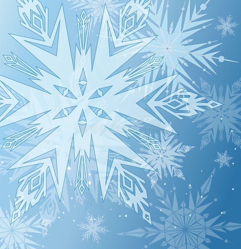 härlig blå vinter för bakgrund stock illustrationer